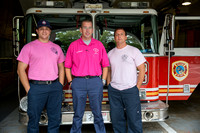 PFF Camardella, Lt. Benkwitt and FF Mike Leak at the Pelham FD