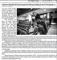 Feb 1st 2017 The Pelham Post Beauty and the Beast Jr cover story continued