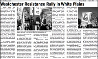 Westchester Resistance Rally in March 2017 Issue of Harrison Herald