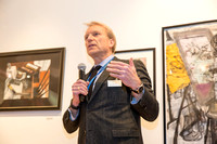 Jim Bunn, Chief Marketing Officer of Concordia College, kicks of the Awards Ceremony at the Opening Reception of the 11th Annual StART Exhibition at Concordia College's OSilas Gallery on Friday, Janua