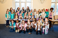 Pelham NY Girl Scouts Thank-A-Vet by NPPA visual journalist Dominique Claire Shuminova for The Pelham Post Veteran's Day 2016