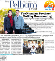 Nunziata Brothers on the cover of January 4th 2017 Issue of The Pelham Post