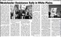 Westchester Resistance Rally in White Plains in the March 2017 Issue of Larchmont Ledger