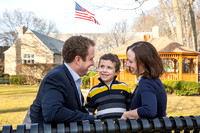 Chance Mullen Democratic Party Nominee for Village of Pelham Trustee and his family photographed in Pelham NY