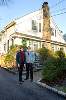 Will & Anthony Nunziata's Holiday Pelham Manor Homecoming by Moon Baby Photo for The Pelham Post