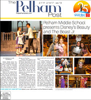 Feb 1st 2017 Cover of The Pelham Post Beauty and the Beast Jr